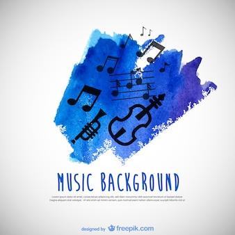 Muziek aquarel achtergrond vector