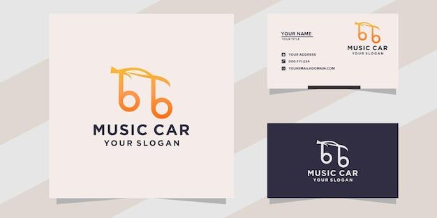 Muziek auto logo sjabloon