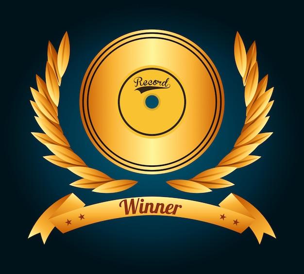 Muziek award ontwerp
