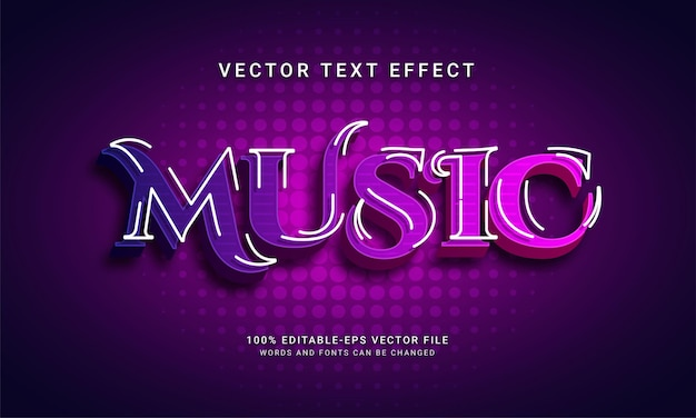 Muziek bewerkbaar teksteffect met nachtfeestthema