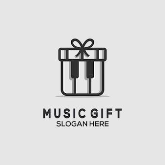 Muziek cadeau embleem
