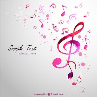 Muziek clef vector achtergrond