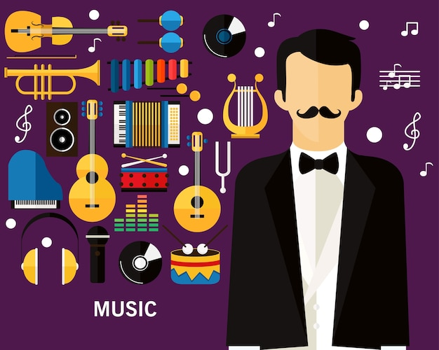 Muziek concept achtergrond.