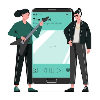 Muziek concept illustratie