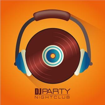 Muziek dj-feestthema