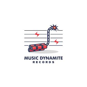 Muziek dynamite design concept illustratie vector sjabloon