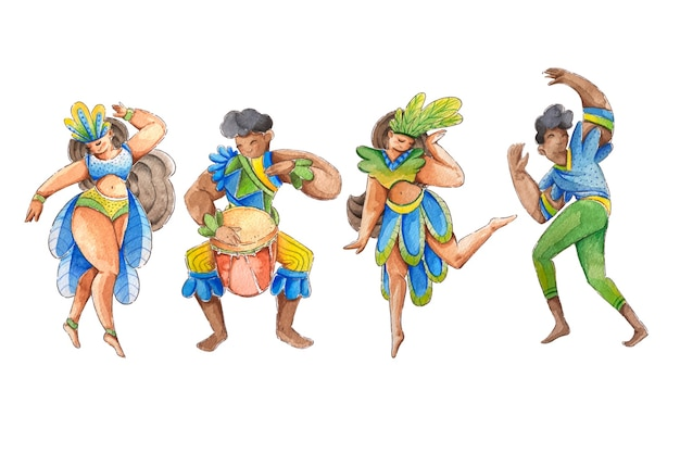 Muziek en dans voor braziliaans carnaval