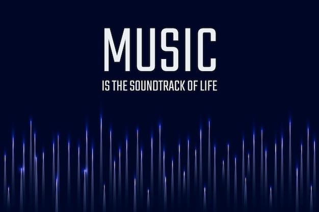 Muziek equalizer digitale sjabloon entertainment tech advertentiebanner met slogan