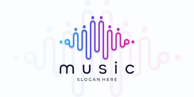 Muziek equalizer-logo. elektronisch audiopictogram.