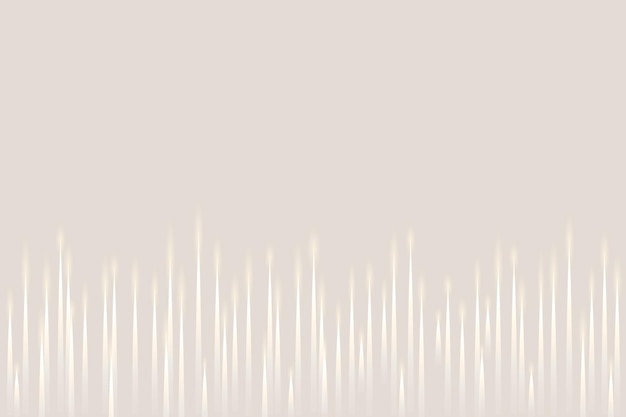 Muziek equalizer technologie beige achtergrond met witte digitale geluidsgolf
