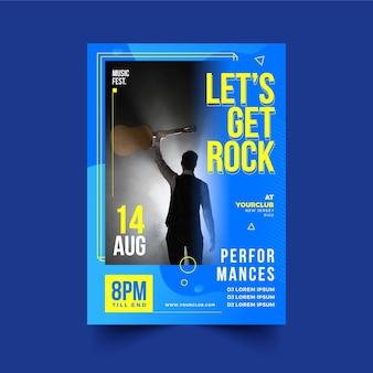 Muziek evenement poster 2021 thema