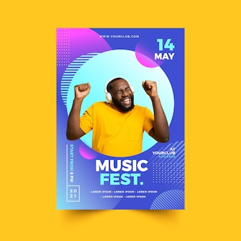 Muziek evenement poster 2021