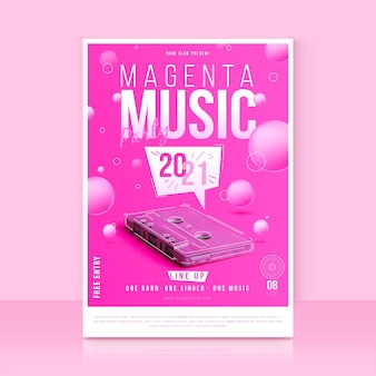 Muziek evenement poster sjabloon met foto