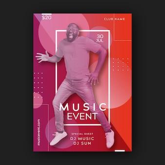 Muziek evenement poster sjabloon