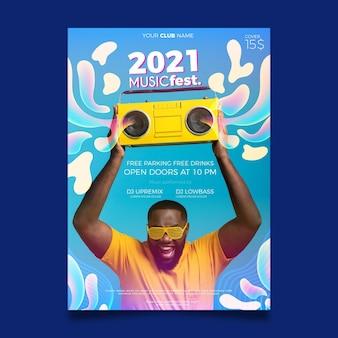 Muziek evenement poster