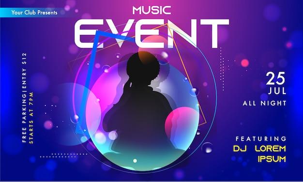 Muziek evenement uitnodiging banner