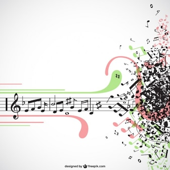 Muziek explosie vector