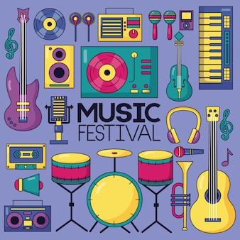 Muziek festival achtergrond