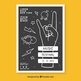 Muziek festival flyer sjabloon