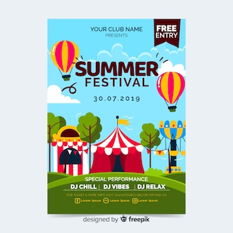 Muziek festival partij poster of sjabloon folder