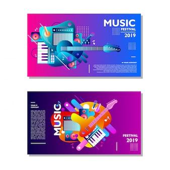 Muziek festival poster ontwerpsjabloon