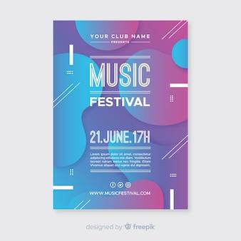 Muziek festival poster sjabloon