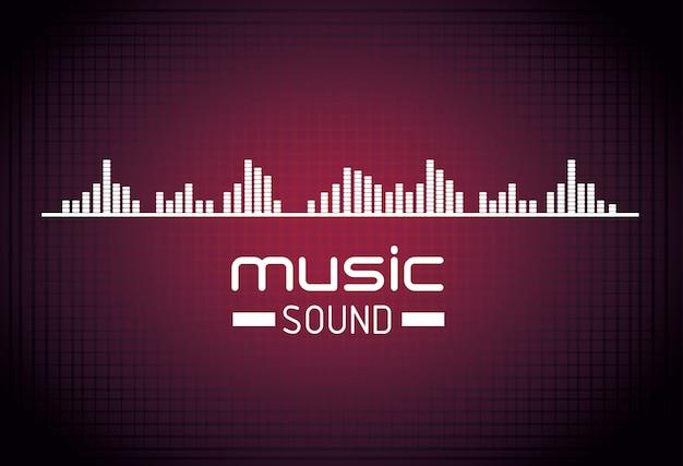 Muziek geluid achtergrondontwerp