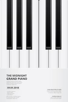Muziek grand piano poster achtergrond sjabloon