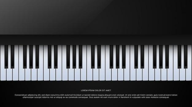 Muziek grand piano poster achtergrond