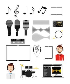 Muziek icon set
