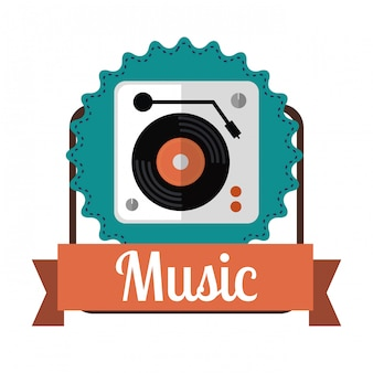 Muziek iconen ontwerp