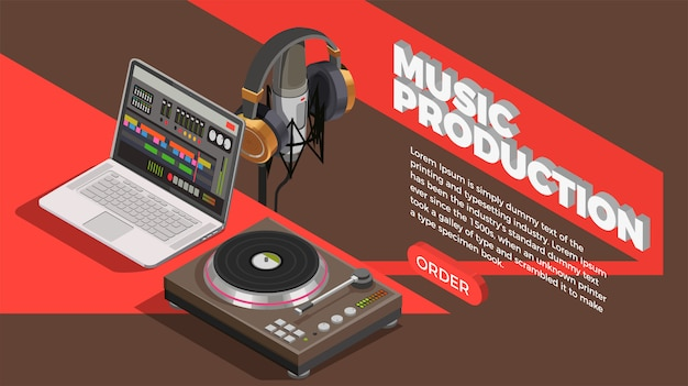Muziek industrie achtergrond