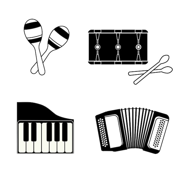 Muziek instrument concept