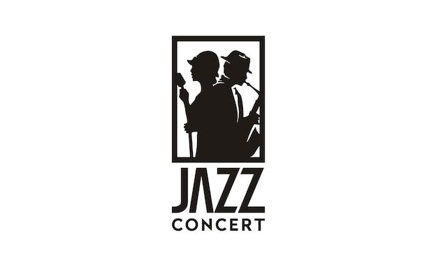 Muziek jazz logo ontwerp inspiratie