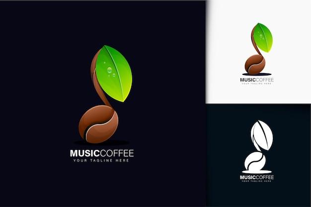 Muziek koffie logo ontwerp