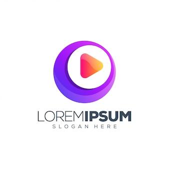 Muziek media logo ontwerp