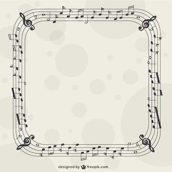 Muziek nostes frame vector