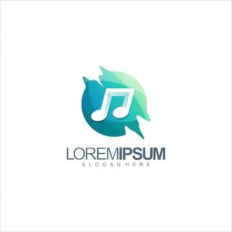 Muziek notitie logo