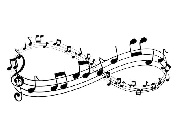 Muziek notitie vector