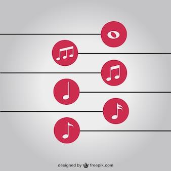 Muziek notities eenvoudige achtergrond vrij