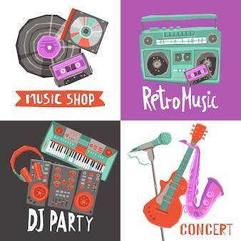 Muziek ontwerp concept