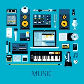 Muziek ontwerp van de apparatuur
