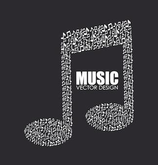 Muziek ontwerp zwarte illustratie
