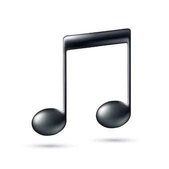 Muziek opmerking teken.