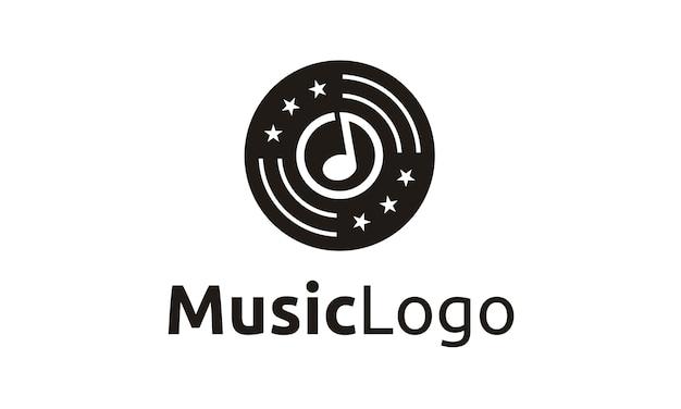 Muziek / opname logo-ontwerp