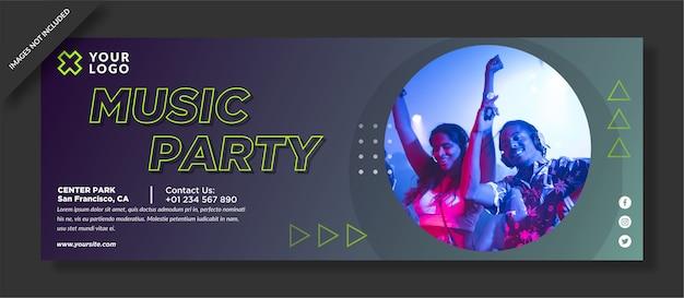 Muziek partij facebook poster