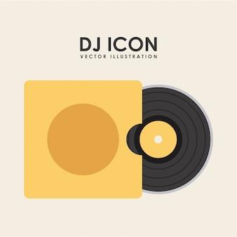 Muziek pictogram over witte achtergrond vectorillustratie
