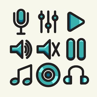 Muziek pictogram set