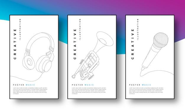 Muziek poster illustratie concept