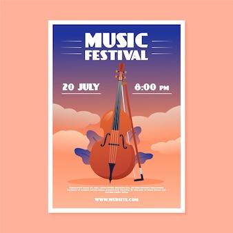 Muziek poster met bas